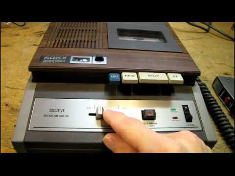 Vintage Sony BM-20 Cassette Dictation Machine