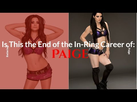 WWE's Paige to Retire Due to Injury?