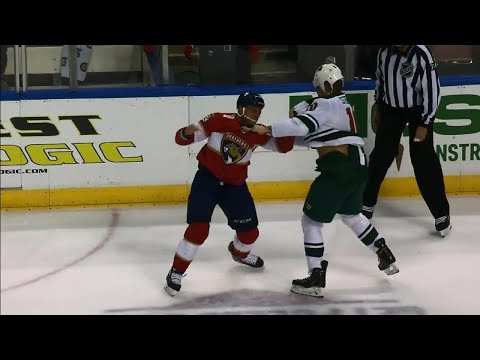 Video: Wild's Stewart and Panthers' Haley trade haymakers