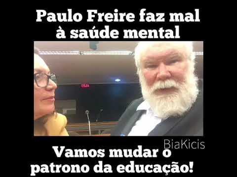 Bia Kicis e o neurologista Vitor Haase propõem substituir o Patrono da educação. Basta de Paulo Fre