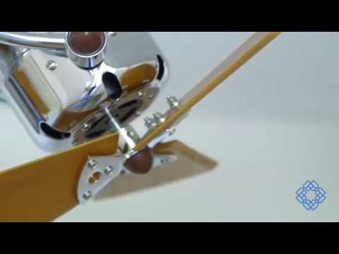 Video for Atlas Fan Acqua Chrome Ceiling Fan with Wood Blades