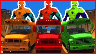 Nursery Rhymes Bus - Wheels On The Bus | +60 Min Nursery Rhymes - Abckidtv