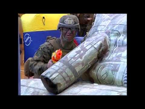 Marines Destroy Kids In Nerf Gun Battle
