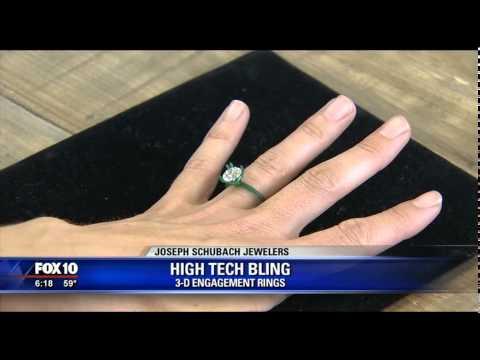 3D Jewelry Printing for Engagement Rings - Phoenix Fox 10's Anita Roman Interviews Joseph Schubach