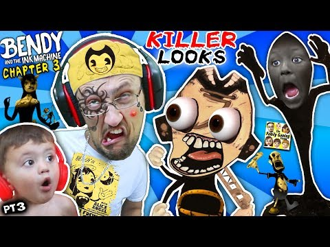 UGLY FACE WEAPON vs BENDY & THE INK MACHINE Chapter 3! FGTEEV gets Tattoo & Shawn Cries (Part 3) (видео)