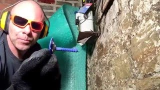 How to fit cavity drainage membrane in a basement conversion.
