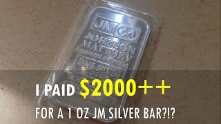"I paid $2000 for a 1 oz JM silver bar... Well, sort of.Look at the best professionals in any field, and they will most likely have a coach, mentor, or teacher. A coach points out those small things that you can improve to bring your game to a whole new level.Our family is ready to take our wealth mastery to a whole new level. This bar was given as part of a wealth management course. Our wealth coach owns about 30x more properties and earns much, much more from rental properties and other businesses he operates... My wife and I will be attending the wealth management course, which roughly costs around $2000+... It came with this 1 oz silver bar, and so I equate this silver bar to $2000+++...We are excited to receive this silver bar, as another wealth coach had mentioned before that ""If you want to attract wealth, get money from a wealthy person."" And this silver bar is ""real money"" from a really wealthy person. We are excited to learn more about property and bullion investing! We want to start stacking more rental property and precious metal!Wishing you continued prosperity and success my friends!Music: Royalty Free Music from Bensound. Little Idea from www.bensound.com.We have joined the Gold Kilo Club - 33+ ozs! See our gold full stack video here: https://youtu.be/zWBmAbR7Rb8"
