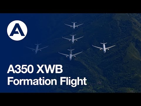 """Family Flight"" – Five a350 Xwbs Together In Flight"