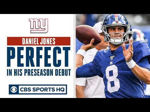 Video: Daniel Jones PERFECT in preseason debut   QB battle in NY?   CBS Sports HQ