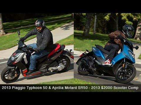 2013 Piaggio Typhoon 50 & Aprilia SR50 - $2000 Scooter Comparison - MotoUSA