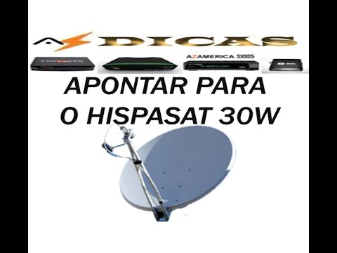 HISPASAT - Explicação detalhada do apontamento do satélite hispasat 30W Link do site Dishpointer http://www.dishpointer.com/
