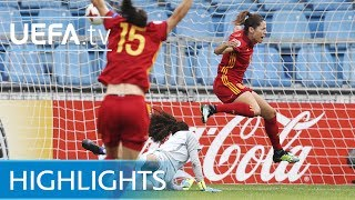 Watch the best of the action from this Group D match at UEFA Women's EURO 2017.Subscribe: http://www.youtube.com/subscription_center?add_user=uefaFacebook: https://www.facebook.com/uefacomTwitter: https://twitter.com/UEFAcomG+: https://plus.google.com/+UEFAcomhttp://uefa.com