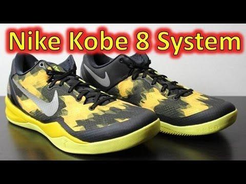 Nike Kobe 8 System Black/Street Grey/Vivid Sulfur - Review + On Feet