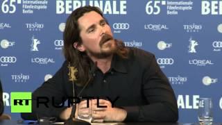 Video Germany: Watch Christian Bale embarrass journalist at 2015 Berlinale MP3, 3GP, MP4, WEBM, AVI, FLV April 2018