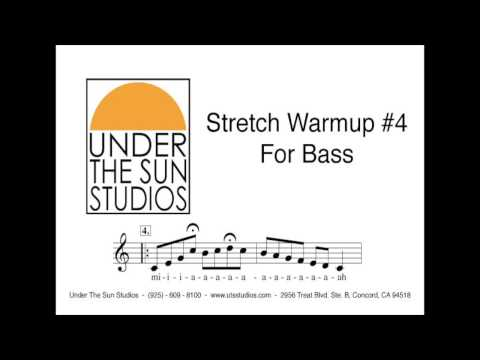 the bass stretch - Vocal Stretch Warmup #4 for Bass.