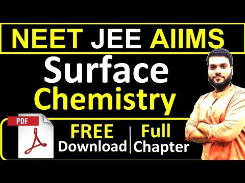 JEE NEET Crash 2019 | Surface Chemistry | Full Theory in 1 Video + PDF Notes