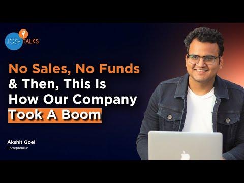 BUSINESS SUCCESS: How I Built A Multi Crore Business With No Money   Akshit Goel   Josh Talks