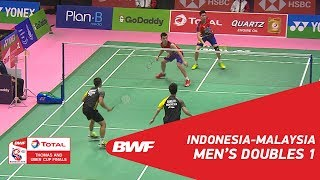 Video Thomas Cup | MD1 | GIDEON/SUKAMULJO (INA) vs GOH V/TAN (MAS) | BWF 2018 MP3, 3GP, MP4, WEBM, AVI, FLV April 2019