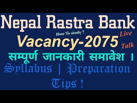 (NRB Vacancy Update 2075 Live Talk - Duration: 55 minutes.)