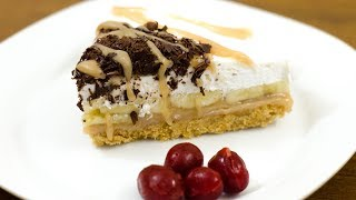 """With digestive biscuit crust, caramel sauce and ripe bananas for filling, topping with chocolate crumb & caramel sauce. Watch how to make an incredibly easy but impressive Banoffee pie. I'll show you in the video, —it's very easy.  """"Happy Cooking""""CARAMEL SAUCE RECIPE: https://youtu.be/X8zT8ukJR9A---------------------------------------------------------------------------------Subscribe My YouTube channel for Recipe Videos:https://www.youtube.com/NOvenCakeCookies---------------------------------------------------------------------------------Like my FB Page for update info:https://www.facebook.com/NahidaOven/---------------------------------------------------------------------------------Follow Us on Twetter:https://twitter.com/nahidaoven---------------------------------------------------------------------------------We Are on Pinterest also:https://www.pinterest.com/nahidaoven/© N'Oven®"""
