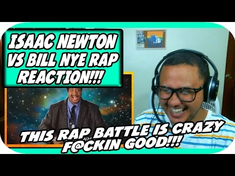 Sir Isaac Newton vs Bill Nye. Epic Rap Battles of History Season 3. REACTION!!!