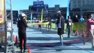 2014 Akron Marathon Winner Crosses Finish Line