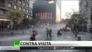 Chile: Al menos 10 detenidos en protestas contra Bolsonaro