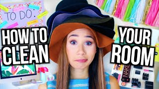 How To Clean Your Room! + DIY Room Decor and Organization! | MyLifeAsEva