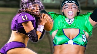 Women Try Lingerie Football