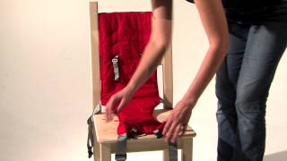 Award winning Porta Chair - a baby carrier inspired harness that converts chairs of all shapes and sizes into a safe and secure highchair for ages 5 - 30 mon...