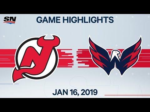 NHL Highlights  Devils vs. Capitals в Jan. 16, 2020