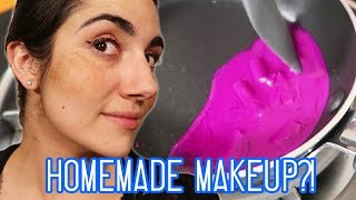 I've always wanted to make my own makeup, so I got my friend the amazing youtuber Natalies Outlet to help! We tried our homemade recipes and did a full face of homemade DIY makeup, from foundation to mascara to lipstick. Would you try any of these beauty recipes?Make sure to check out Natalie's collab video here, where we tried out Instagram Clickbait!!: http://bit.ly/2uWKGrRAnd subscribe to her channel here!!: http://bit.ly/2cO2fGADon't forget to click the bell to turn on post notifications!This video is NOT sponsored!Recipes:http://www.rookiemag.com/2013/10/diy-crayon-lipstick/http://thecoconutmama.com/homemade-eye-liner/https://wellnessmama.com/27328/liquid-foundation-recipe/http://www.thankyourbody.com/all-natural-homemade-mascara/Safiya's Nextbeat: https://nextbeat.co/u/safiyaIG: https://www.instagram.com/safiyany/Twitter: https://twitter.com/safiyajnFacebook: https://www.facebook.com/safnygaard/Assistant Editor: Emily LindenMUSICMind The GapShaftedJet SetterCash MoneyHigh HeeledInfernal GallopChit Chat PolkaBallet For A BearDance Of The CygnetsLiving The High LifeBig Spendervia Audio NetworkSFXvia AudioBlocks