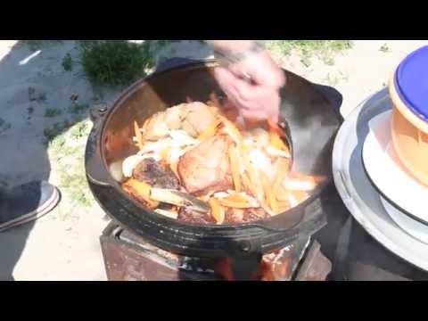 Как приготовить плов в казане на костре рецепт узбекский с