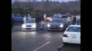 Nissan GTR R35 Vs BMW M3 Turbo - Bonnet Depan TERCABUT !!