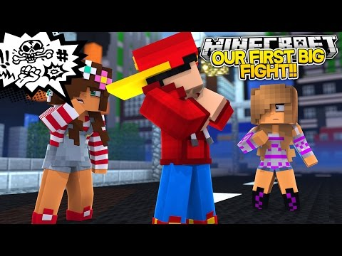 Minecraft Adventure - ROPO & ALLY FIRST BIG FIGHT!!!! (видео)