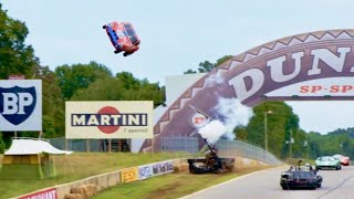 車も吹っ飛ばす!すべて本物!映画『フォードvsフェラーリ』レースシーン メイキング映像2