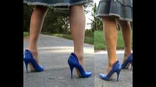 Blue Spanish Stilettos