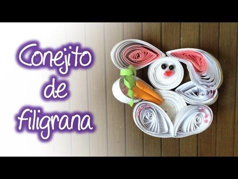 filigrana - Este es un vídeo donde te enseñamos a realizar paso a paso un conejito hecho con la técnica de filigrana de papel el cual puedes utilizar como decoración en ...