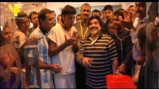 Kannur India  city images : Diego Maradona In Kannur, India [YFBS]