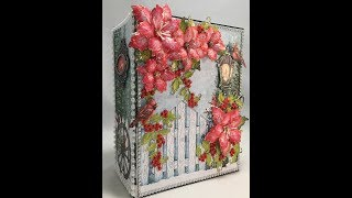 "Free Mini Album Tutorial. Step by step instructions on how to make this 8-1/2"" x 6-1/2"", with 3-1/2"" spine, mini album using the Heartfelt Creations Festive Holly paper collection.This tutorial is for beginners or seasoned crafters. You 'll get an easy, down to earth learning experience by Valeri at J & S Hobbies and Crafts. This album has 12 decorated pages of detailed, fun layouts, featuring how to make pockets, foldouts, and more! Supplies for this tutorial can be found at http://www.jshobbiesandcrafts.com and/or our Ebay store http://stores.ebay.com/jshobbiesandcrafts/."