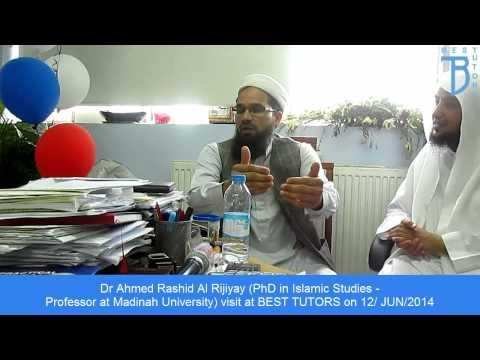 Best Tutors: Dr Ahmed Rashid Al Rijiyay visit on 12/06/14