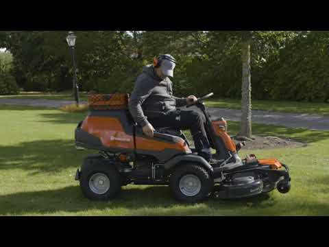 Садовый райдер бензиновый HUSQVARNA R 420TSX AWD - видео №3