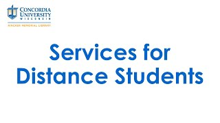 Services for Distance Students