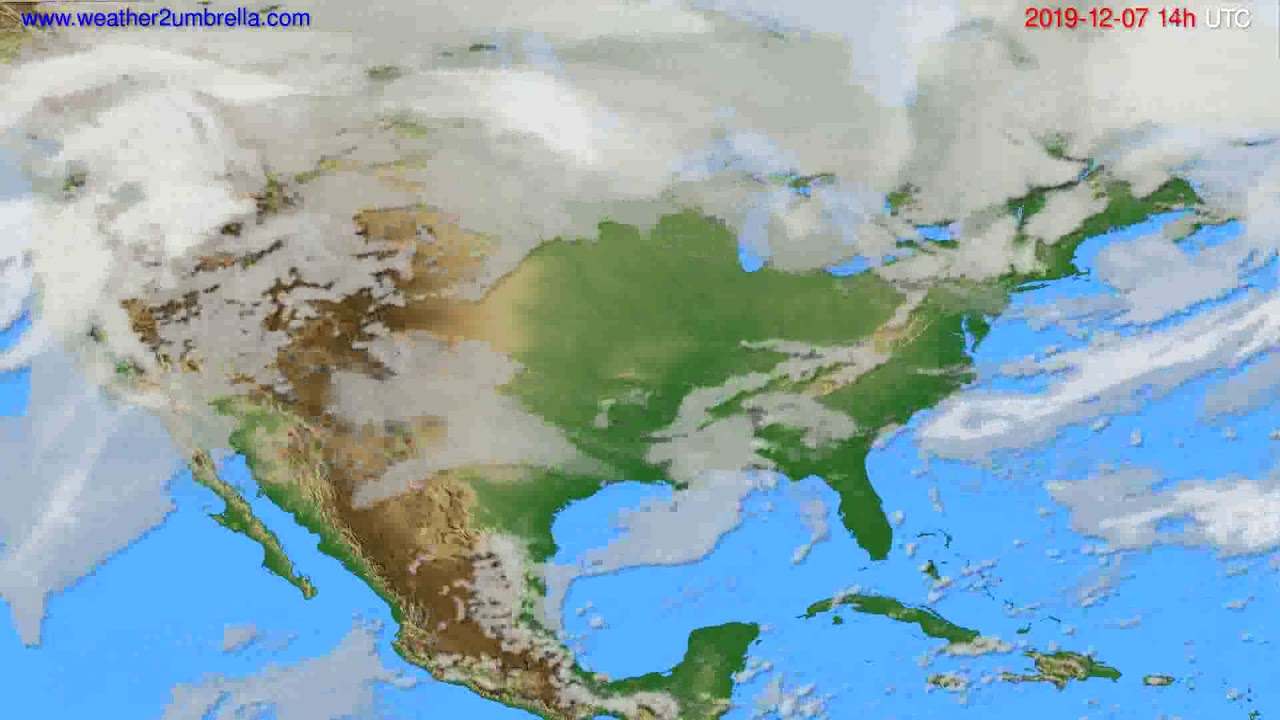 Cloud forecast USA & Canada // modelrun: 12h UTC 2019-12-05