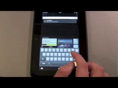 Amazon Kindle Fire HD – Browser Test