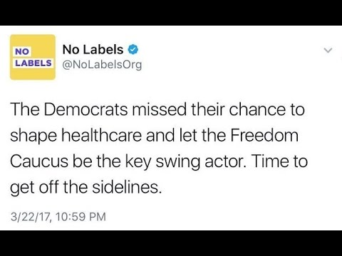 'No Labels' Shows No Intelligence With Healthcare Tweet