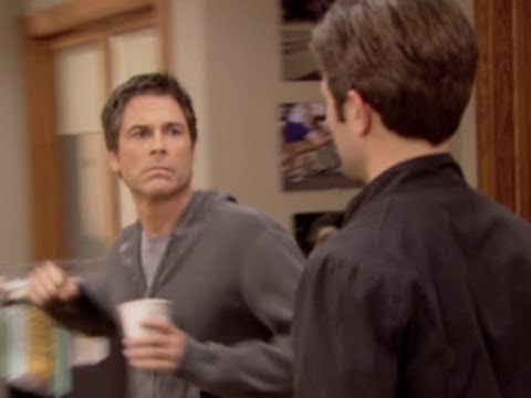 """I love this promo of Parks and Rec. """"Rob Lowe goes nuts"""""""