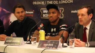 Anthony Joshua vs Charles Martin Press Conference