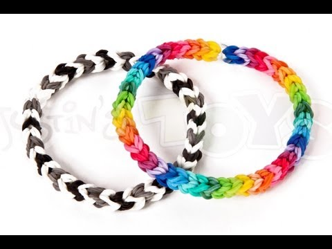 How to make a Classic Single Double Rainbow Loom Bracelet