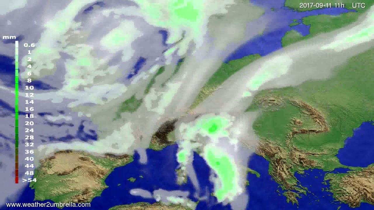 Precipitation forecast Europe 2017-09-08